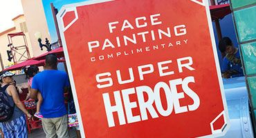 Heroic Face Painting