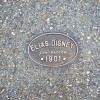 Placa de construcción Elias Disney en Main Steet USA