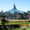 Vista general de Mad Hatter's Tea Cups en Eurodisney