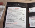 Carta Vapiano - Disney Village